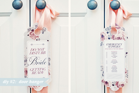 Diy 2 Bridal Door Hanger Bloved Blog