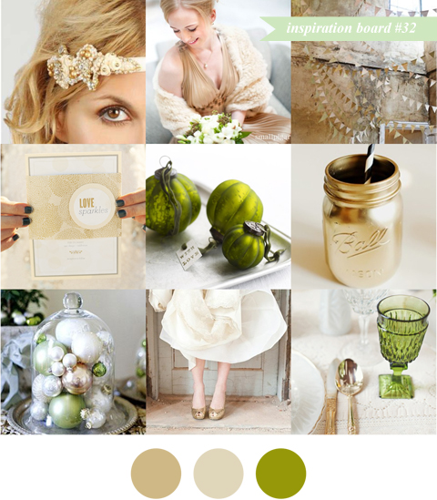Inspiration Board #32: Gorgeous Green & Gold
