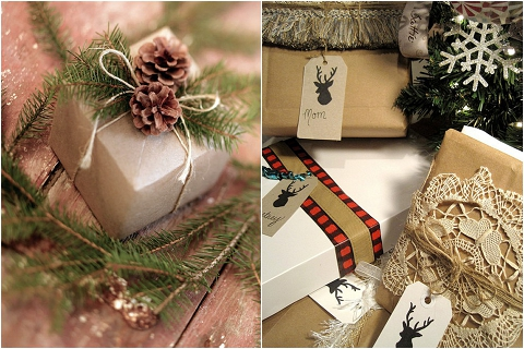 Bijoux Bride Its All In The Details Cosy Christmas Wedding Interiors Styling Red White Green Traditonal Gift Wrap 4