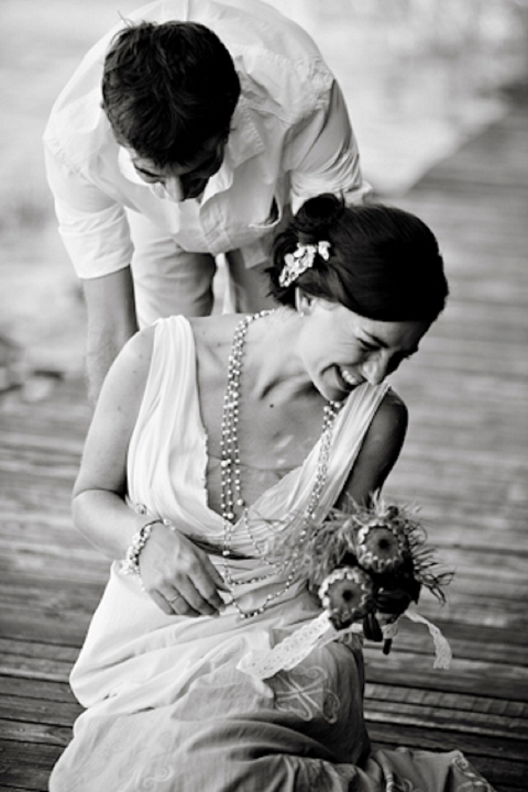 Real Wedding Romantic Bohemian Beach Wedding Robyn