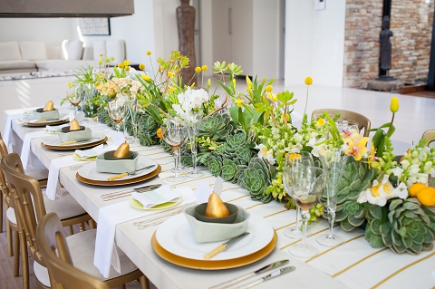 Styled Shoot Yellow amp Mint Inspiration By Wedding