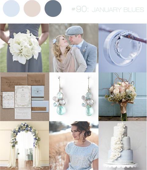 Wedding Ideas And Inspirations: Inspiration Board #90: January Blues