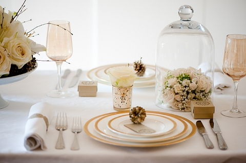 ... Bloved Uk Wedding Blog Styled Shoot Contemporary Gold . The Table  Setting ...