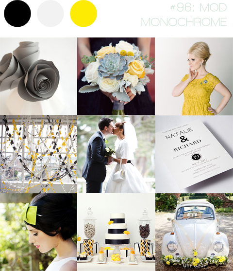 bloved-uk-wedding-blog-inspiration-mod-monochrome-sixties-white-black-yellow