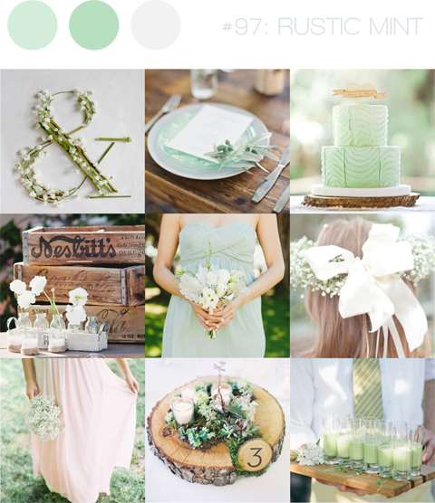 30 Inspirational Rustic Barn Wedding Ideas: Inspiration Board #97: Rustic Mint