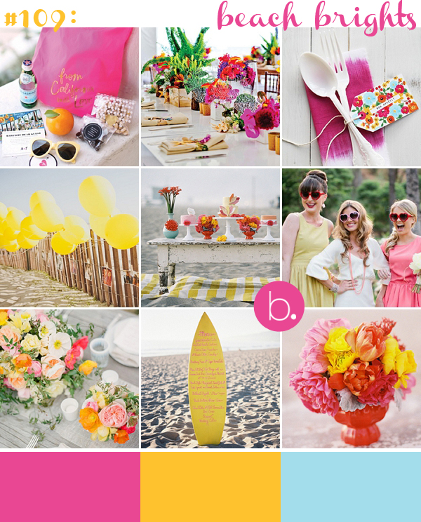 Wedding Ideas And Inspirations: Pink, Yellow & Aqua Beach Wedding Inspiration