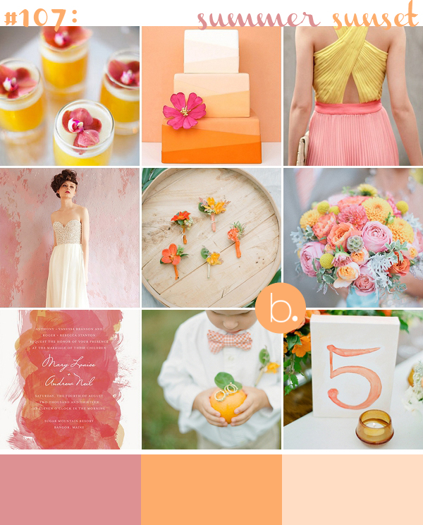 Pink & Orange Watercolour Wedding Inspiration