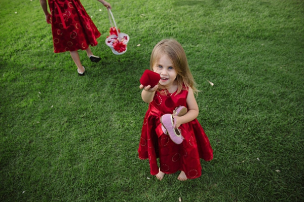 red flower girls outfits