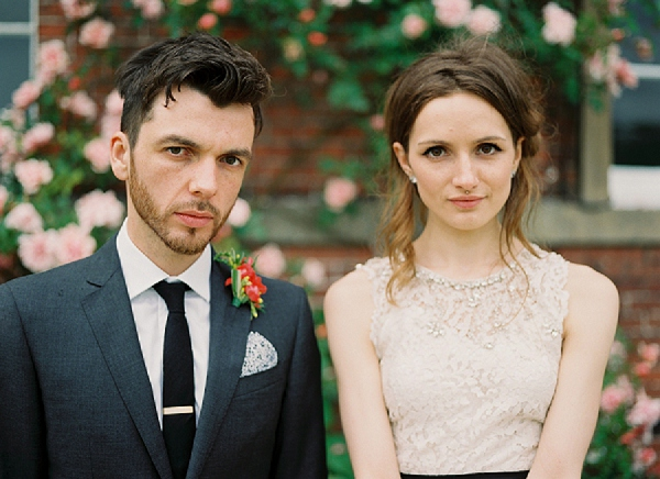 romantic wedding portraits on film