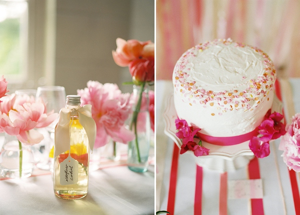 coral wedding cake sprinkles