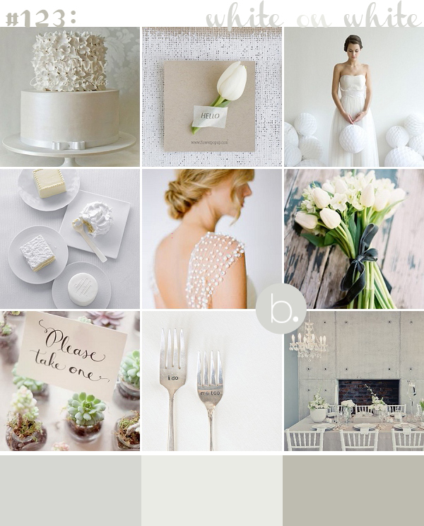 white on white classic contemporary wedding inspiration