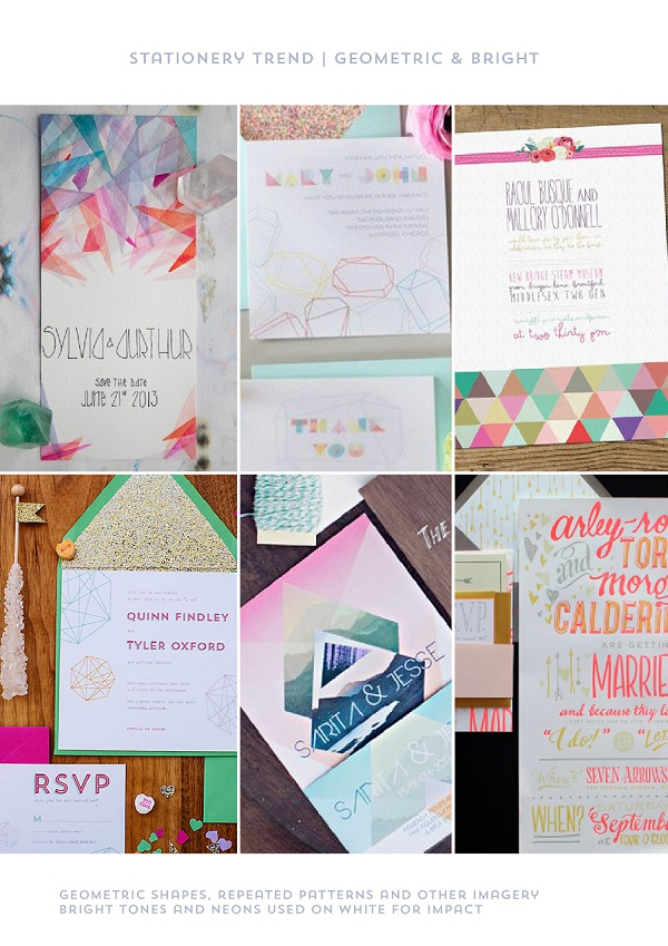 Stationery Trend Geometric & Bright by Itty Bitty & Bijou