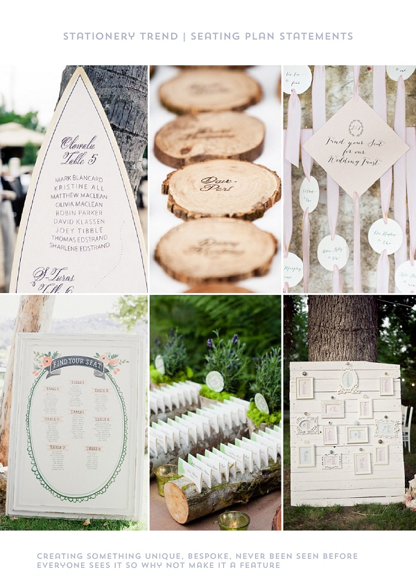 Stationery Trend Statement Seating Plans by Itty Bitty & Bijou