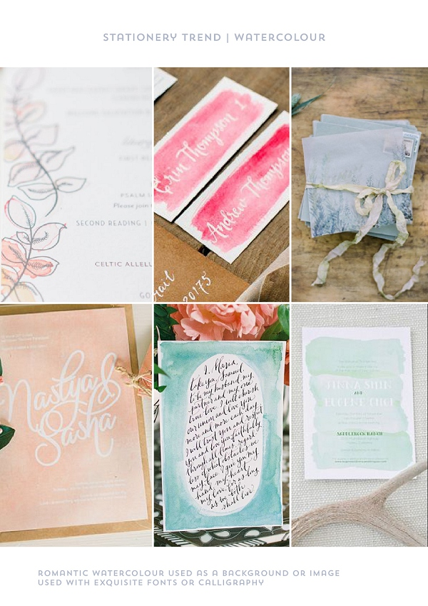 Stationery Trend Watercolour by Itty Bitty & Bijou