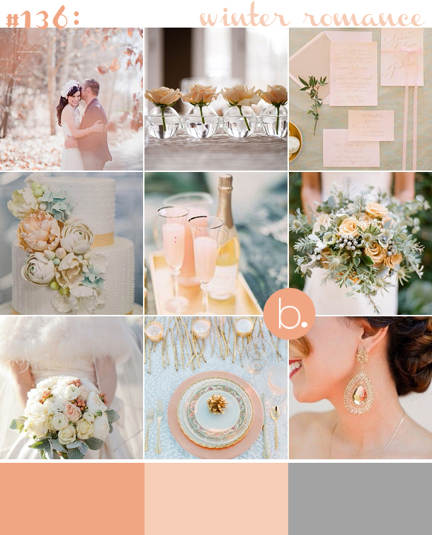 Peach silver winter wedding inspiration bloved uk wedding blog peach silver winter inspiration junglespirit Gallery