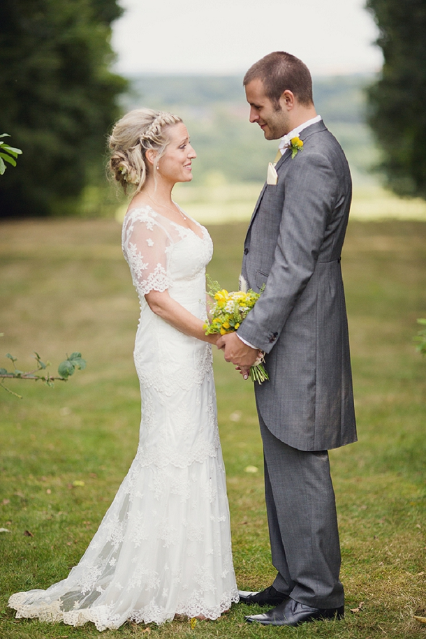 Outdoor Humanist Wedding With A Yellow Rustic Style