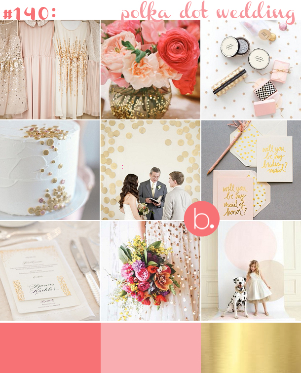 bloved-uk-wedding-blog-pink-gold-polka-dot-inspiration