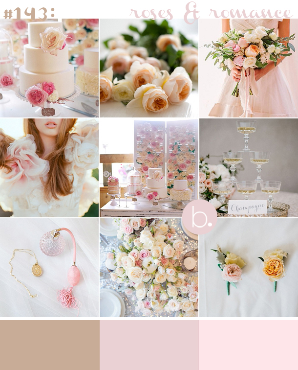 Romantic pink & champagne gold wedding inspiration