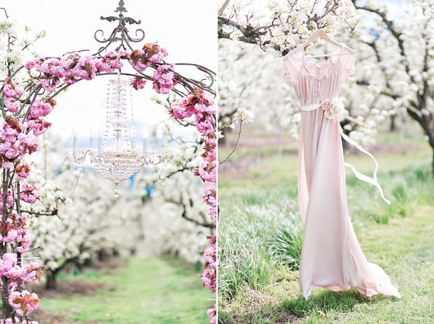 Blush Elopement Wedding Inspiration In A Spring Blossom