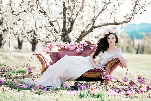Bride among the Spring Blossom