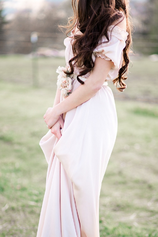 Blush Pink Wedding Dress by Melissa Price
