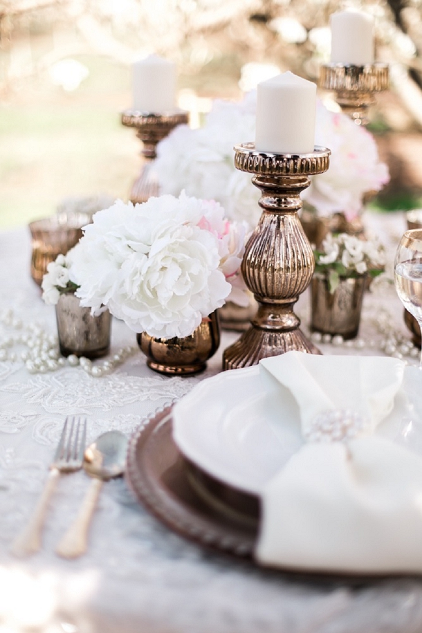 Blush & Gold Wedding Table Decor
