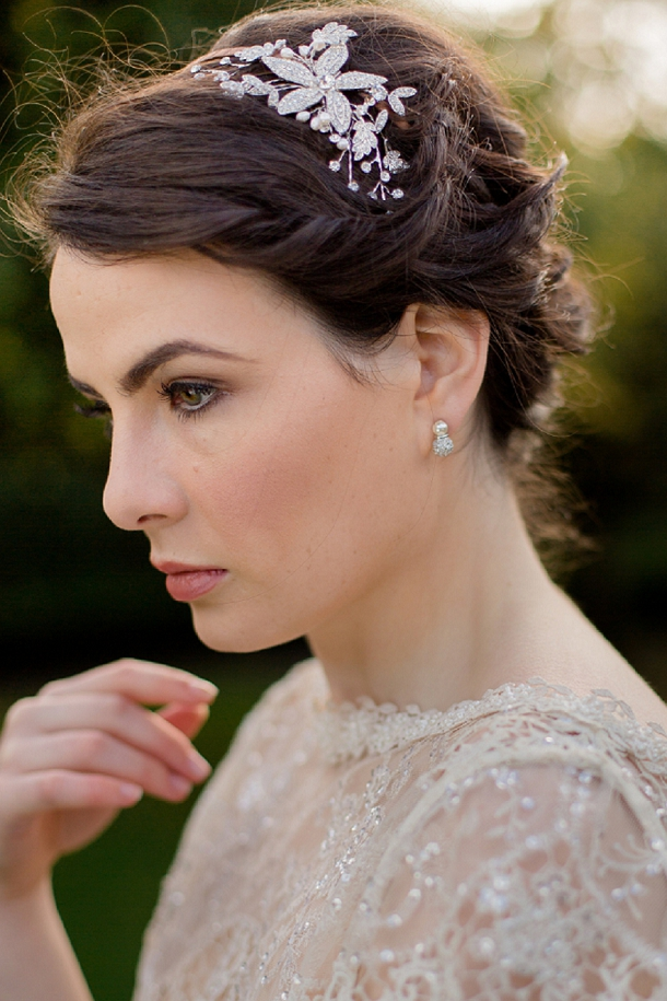 Bridal Earrings & Heapiece