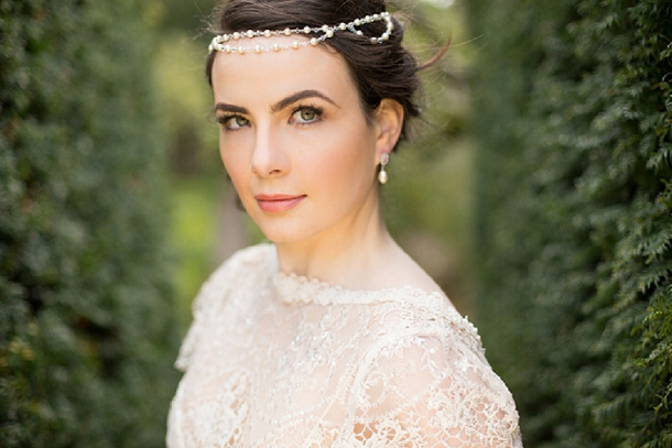 Beaded Bridal Brow Band