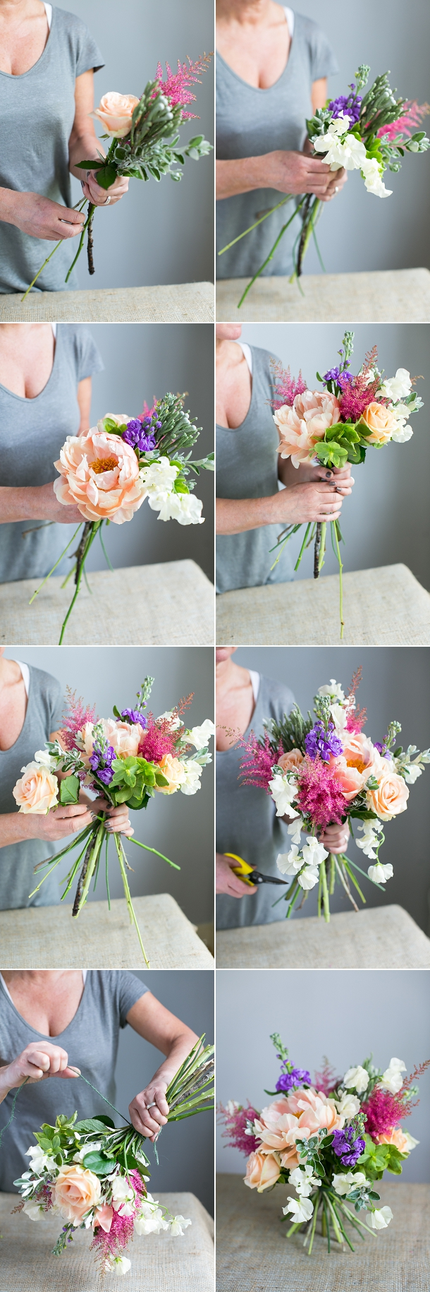 making wedding bouquets with artificial flowers diy bouquet tutorial with peonies 5681