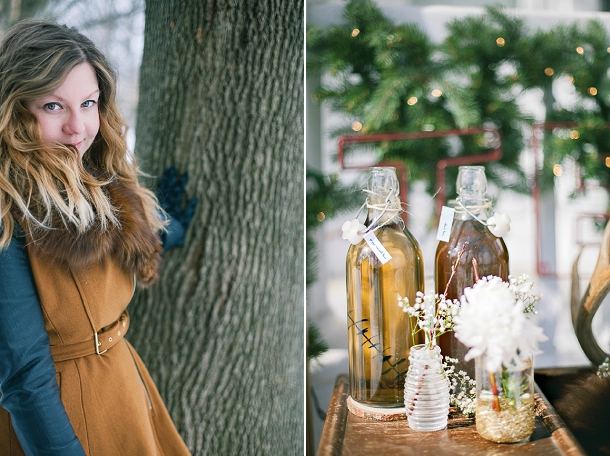 Powder blue & copper winter anniversary shoot