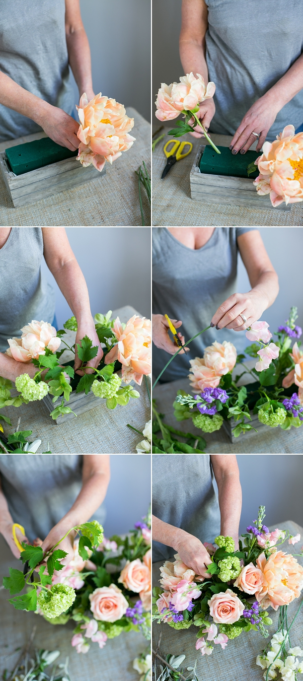 Step by step spring tablecentre tutorial by Bluesky Flowers