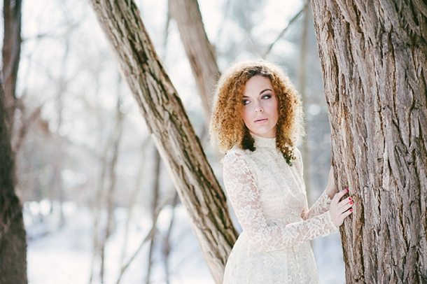 Winter woodland wedding, Cait Kimball Photography