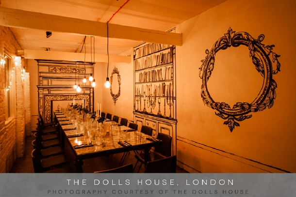 Chic & Quirky London Wedding Venue The Dolls House on Coco Wedding Venues