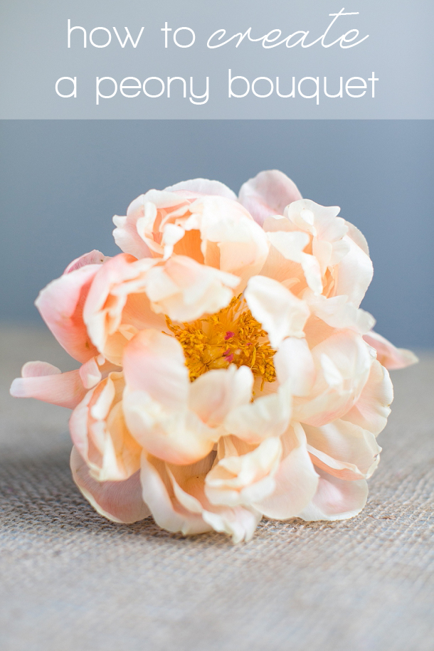 Fl Diy How To Create A Hand Tied Peony Bouquet