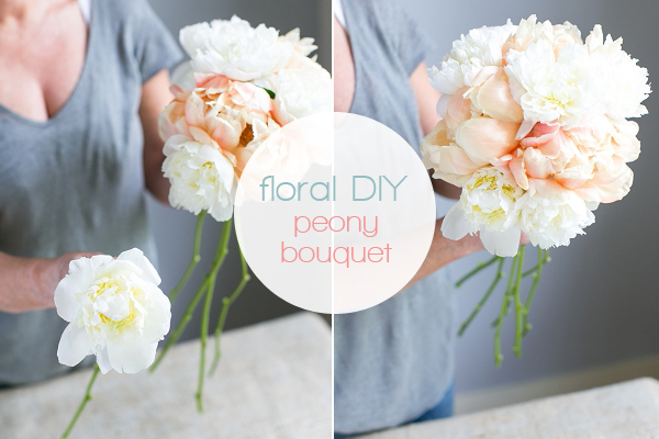 making wedding bouquets fresh flowers create your own handtied peony wedding bouquet 5680