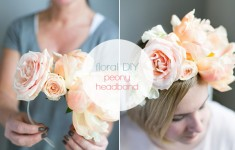 Asymmetrical floral headband tutorial