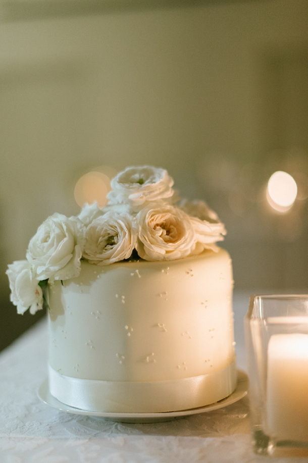 White dot wedding cake by Cakes by Wade