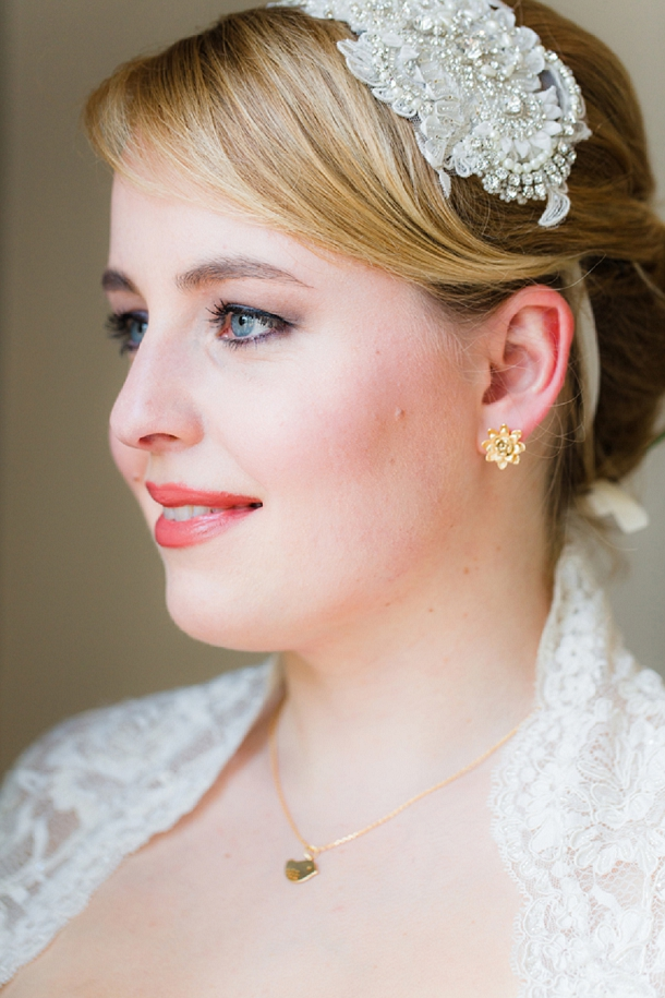 Blush wedding makeup