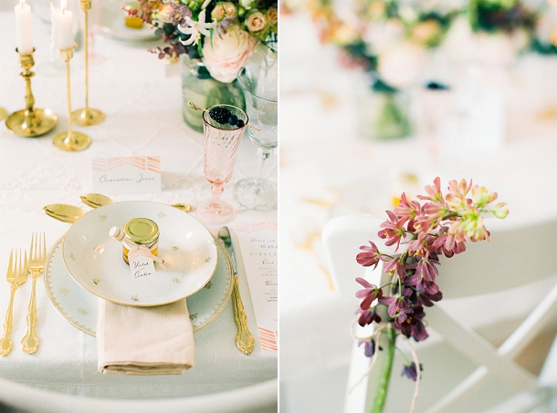 Blush & gold place setting