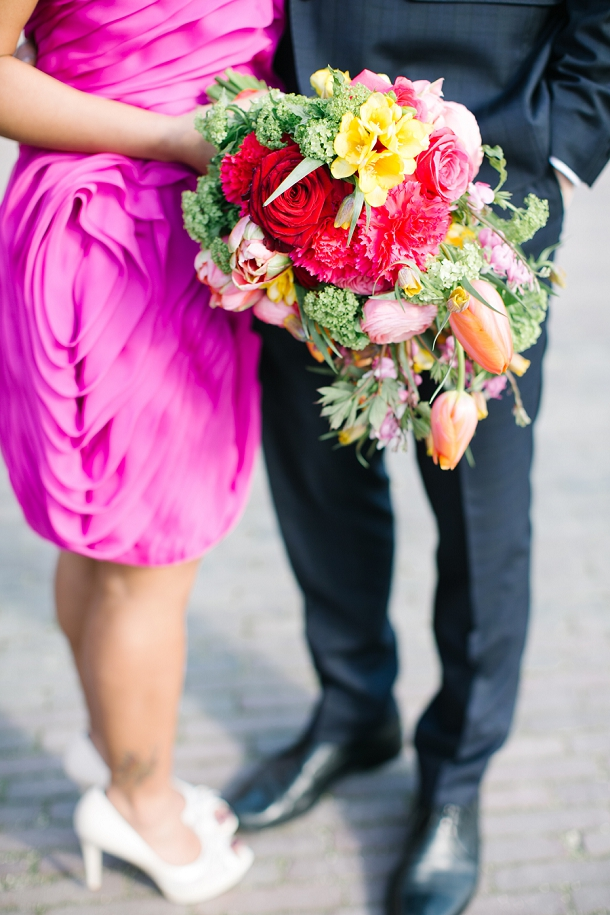 tropical bright wedding bouquet