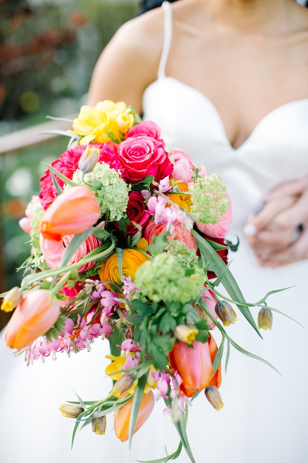 Vibrant wedding bouquet