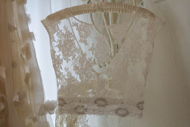 Lace cover up with crystal details