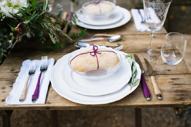 Twine wrapped bread favour