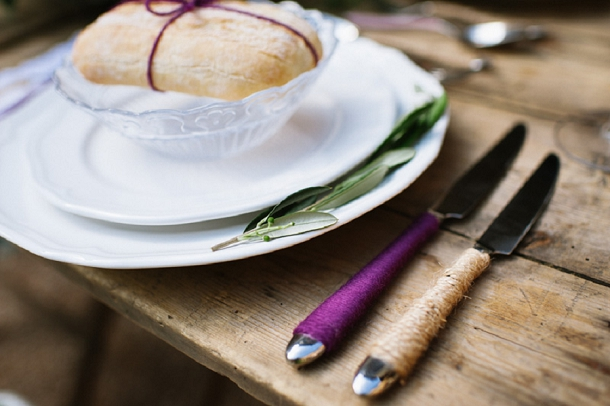 twine wrapped cutlery