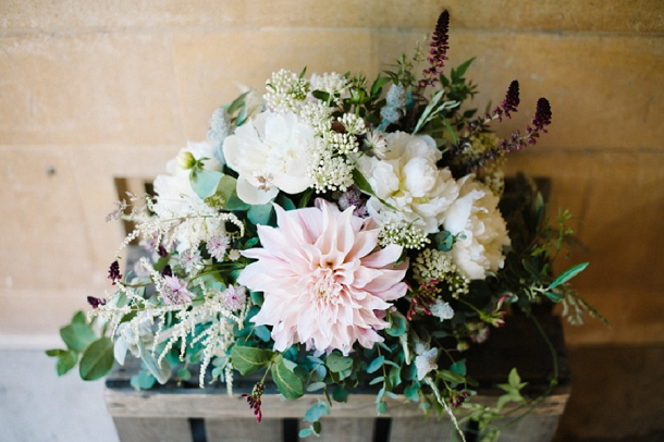 English garden inspired floral arrangement