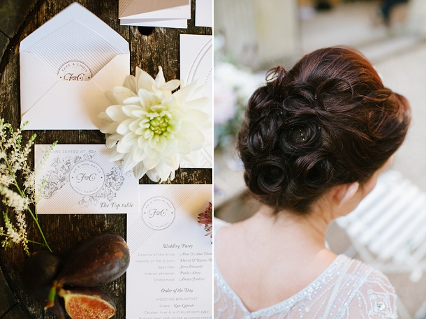 Figs & florals wedding stationery