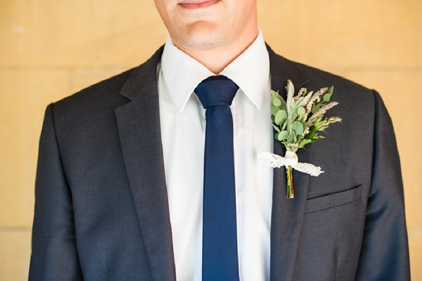 Rustc boutonniere by The Rose Shed