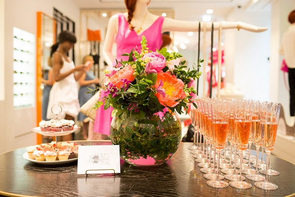 Champagne and cupcakes at Kate Spade Covent Garden London