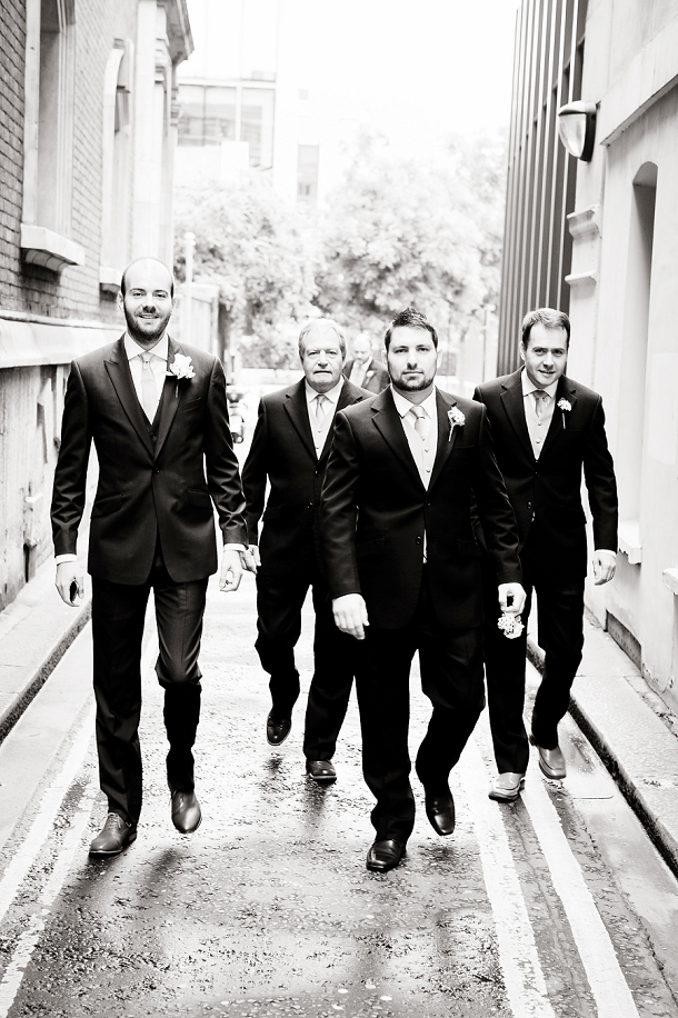 City wedding groomsmen