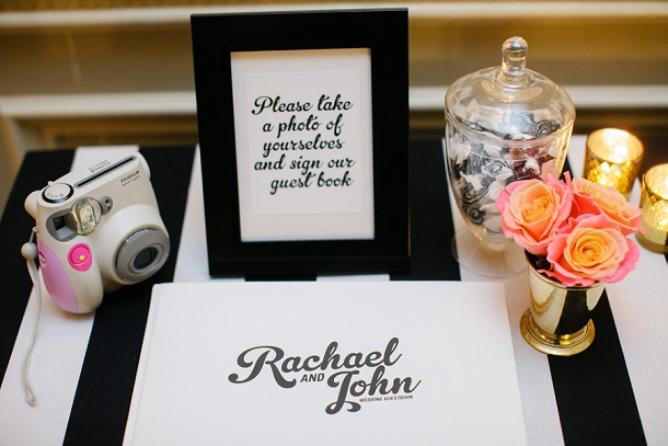 Contemporary photo booth guest book
